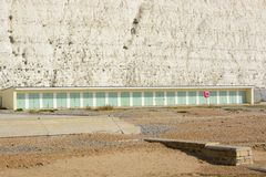 Beach huts at Rottingdean, Sussex, England Stock Images