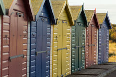 Beach huts Royalty Free Stock Images