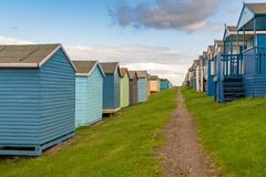 Beach huts in a row Royalty Free Stock Image