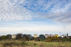 Beach huts in a row, Whitstable Royalty Free Stock Photo