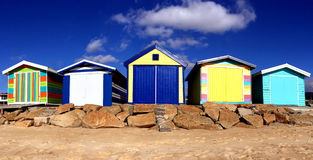 Beach Huts at Safety Beach Royalty Free Stock Photography