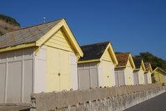 Beach huts, Sandgate Stock Photo