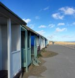 Beach Huts by the Sea Royalty Free Stock Photography