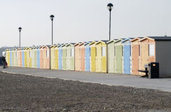 Beach huts at Seaford. East Sussex. UK Stock Images