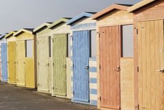 Beach huts at Seaford. East Sussex. UK Royalty Free Stock Images