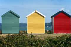 Beach huts on a seafront Royalty Free Stock Photography