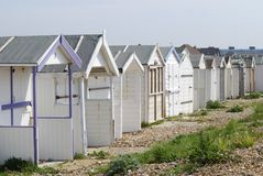 Beach huts at Shoreham. Sussex. UK Royalty Free Stock Image