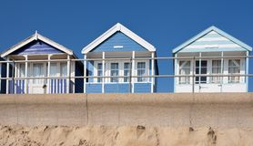 Beach Huts, Southwold Stock Image