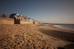 Beach huts at southwold at dawn Stock Image