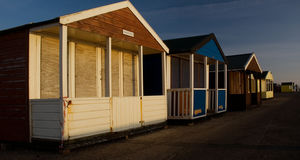 Beach Huts of Southwold England Norfolk Royalty Free Stock Image
