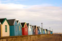 Beach huts at Southwold. Royalty Free Stock Image