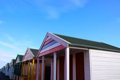 Beach huts at Southwold. Stock Image
