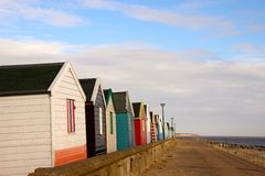 Beach huts at Southwold. Royalty Free Stock Photography