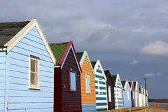 Beach huts at Southwold. Royalty Free Stock Images