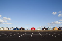 Beach Huts, Southwold, Suffolk, England Stock Photos