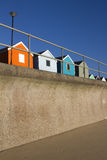 Beach Huts at Southwold, Suffolk, England Stock Images