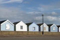 Beach Huts at Southwold, Suffolk, U. A row of beach huts at Southwold, Suffolk, UK Stock Photos