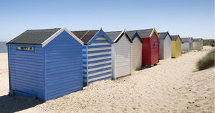 Beach Huts at Southwold, Suffolk, UK Stock Image