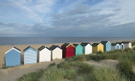 Beach Huts at Southwold, Suffolk, UK. The iconic row of beach huts on the beach at Southwold, Suffolk, UK Royalty Free Stock Photo