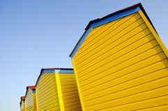 Beach huts on a summer evening Stock Photography