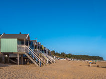 Beach Huts at Sunrise Royalty Free Stock Images