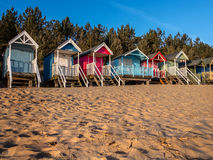 Beach Huts at Sunrise Stock Photography