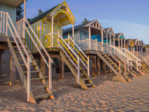 Beach Huts at Sunrise Stock Photos