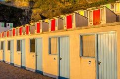 Beach Huts at Sunset Royalty Free Stock Photos