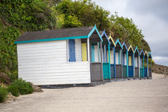 Beach huts on swanpool beach in cornwall england uk Stock Photography