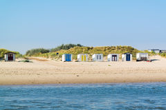 Beach huts on Texel island, Netherlands Stock Photos