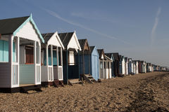Beach Huts, Thorpe Bay Stock Images