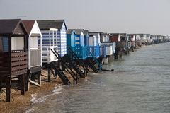 Beach Huts, Thorpe Bay Royalty Free Stock Photos