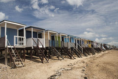 Beach Huts, Thorpe Bay, Essex, England. Beach Huts at Thorpe Bay, near Southend-on-Sea, Essex, England Stock Image
