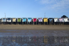 Beach Huts, Thorpe Bay, Essex, England Royalty Free Stock Photo