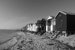 Beach Huts, Thorpe Bay, Essex, England Stock Images