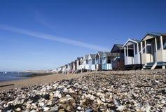 Beach Huts at Thorpe Bay, Essex, England Royalty Free Stock Photos