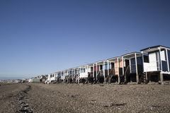 Beach Huts at Thorpe Bay, Essex, England Royalty Free Stock Image