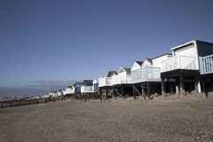 Beach Huts at Thorpe Bay, Essex, England Royalty Free Stock Images