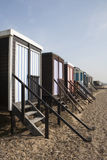 Beach Huts at Thorpe Bay, Essex, England Stock Image