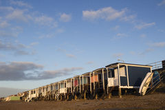 Beach Huts at Thorpe Bay, Essex, England Stock Images