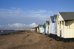 Beach Huts at Thorpe Bay, Essex, England Stock Photography
