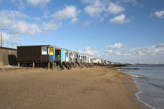 Beach Huts at Thorpe Bay, Essex, England Royalty Free Stock Photos