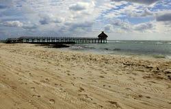 The Beach and Huts at Vidanta Riviera Maya. The Beach and Huts at Vidanta Grand Luxxe, The Grand Bliss, Mayan, Palace and Bliss Riviera Maya Mexico stock image