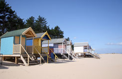 Beach huts at Wells-next-the-Sea Stock Images