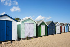 Beach Huts at West Mersea Royalty Free Stock Images