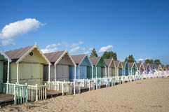 Beach Huts at west Mersea Royalty Free Stock Photography
