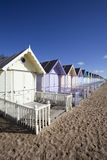 Beach Huts, West Mersea, Essex, England Royalty Free Stock Photo