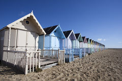 Beach Huts, West Mersea, Essex, England Royalty Free Stock Photos