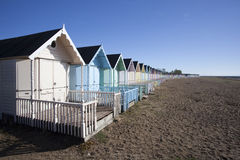 Beach Huts at West Mersea, Essex, England. Royalty Free Stock Photography