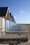 Beach Huts at West Mersea, Essex, England Royalty Free Stock Images